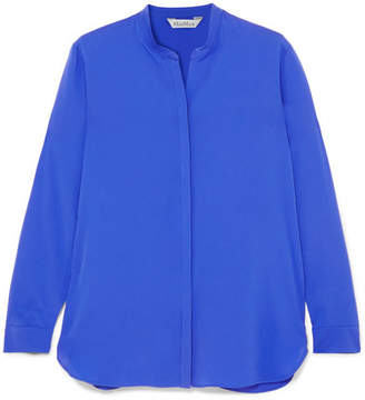 Max Mara Silk Crepe De Chine Shirt - Blue