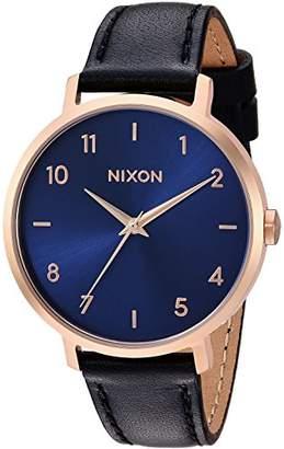 Nixon Women's 'Arrow Leather' Quartz Stainless Steel Casual Watch