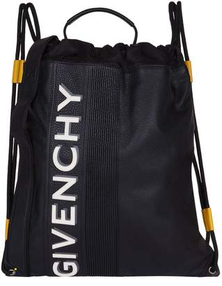 Givenchy Reverse Logo Drawstring Backpack