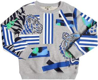 Kenzo Lion & Tiger Printed Cotton Sweatshirt