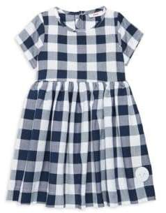 Buffalo David Bitton Smiling Button Little Girl's& Girl's Check Dress