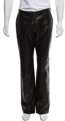 Prada Flat Front Leather Pants w/ Tags