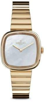 Gomelsky Eppie Sneed Mother-Of-Pearl & PVD Gold Bracelet Watch