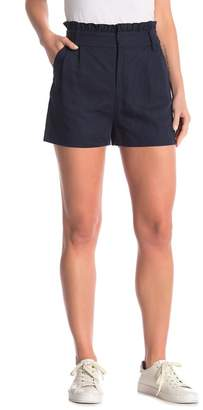 Frame Paperbag Solid Ruffle Shorts