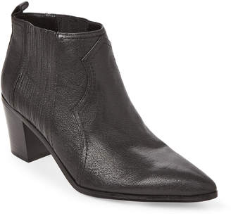 Nine West Black Cowboy Leather Ankle Booties
