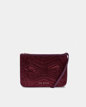 Ted Baker JANAA Quilted bow double pouch cross body bag