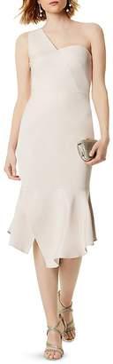 Karen Millen One-Shoulder Midi Dress