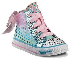 Skechers Twinkle Toes Shuffles Pixie Bunch Toddler Girls' Light-Up High-Top Sneakers $49.99 thestylecure.com