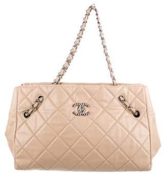 Chanel Cells Leather Tote Beige Cells Leather Tote