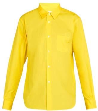Comme des Garcons Logo Cotton Poplin Shirt - Mens - Yellow