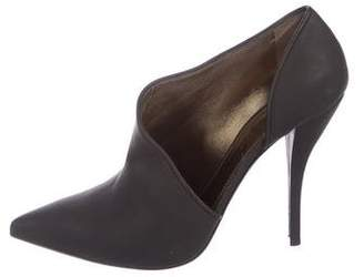 Lanvin Leather Cutout Booties