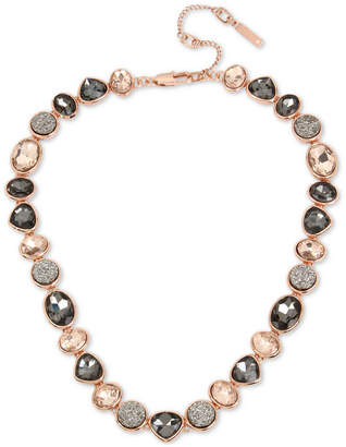 """Kenneth Cole New York Rose Gold-Tone Multi-Stone Collar Necklace, 15"""" + 3"""" extender"""