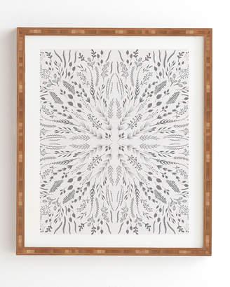 Deny Designs Iveta Abolina Gray Maze Framed Wall Art