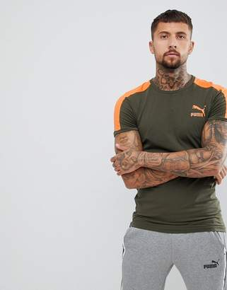 Puma T7 Muscle Fit T-Shirt In Green 57635215