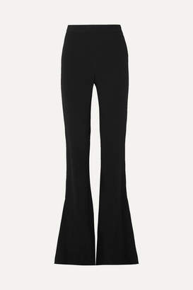 Cushnie Stretch-cady Flared Pants - Black