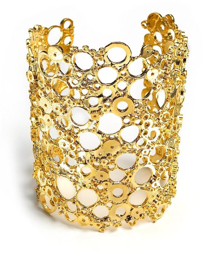 Alexis Bittar Extra Large Gold