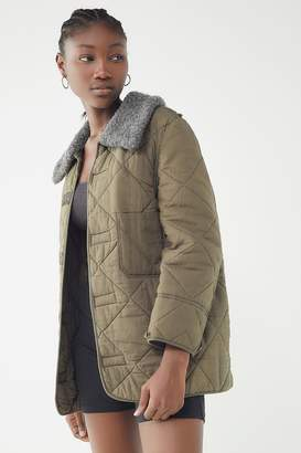 Urban Renewal Vintage Faux Fur Collar Liner Jacket