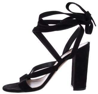 Gianvito Rossi Janis Low Wrap-Around Sandals