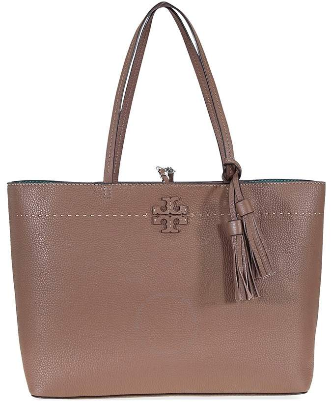 Tory Burch McGraw Leather Tote - Silver Maple / Malachite - ONE COLOR - STYLE