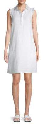Collared Linen Shirtdress