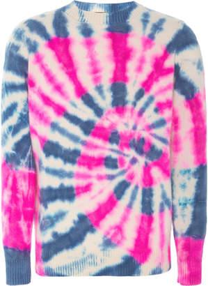 The Elder Statesman Exclusive Prism Tie-Dye Cashmere Sweater