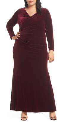 Vince Camuto Side Ruched Gown