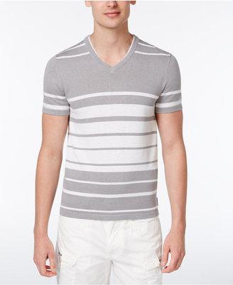 Armani Exchange Men's Knit Stripe V-Neck Shirt $90 thestylecure.com
