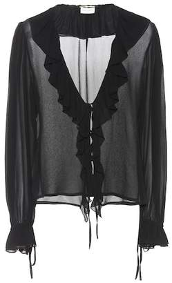 Saint Laurent Silk georgette blouse
