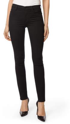 J Brand Maria High-Rise Super Skinny in Seriously Black