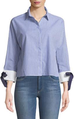 Avantlook Tie-Cuff Button-Front Shirt