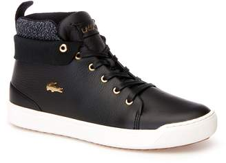 Lacoste Womens Explorateur Classic Mid Leather And Textile Trainers