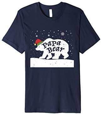 Papa Bear Funny Santa Christmas Pajamas T-Shirt
