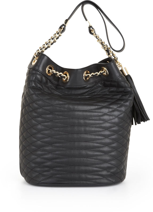 Audrey Quilted Bucket Bag