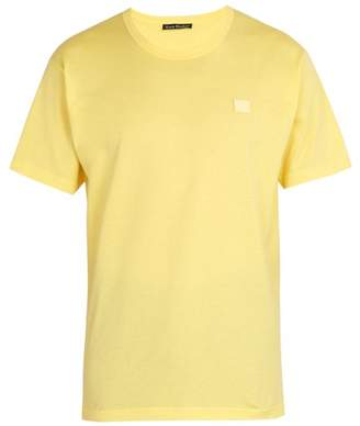 Acne Studios Nash Face Cotton Jersey T Shirt - Mens - Yellow