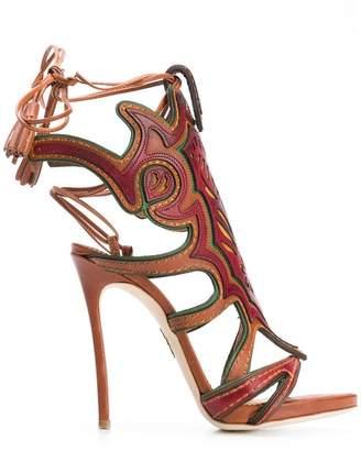 DSQUARED2 front motif sandals