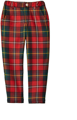 Oscar de la Renta Holiday Plaid Wool Pant
