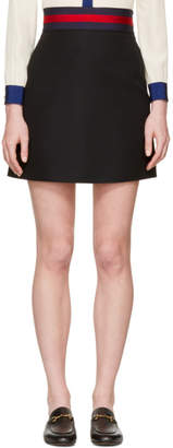 Gucci Black Web Ribbon Miniskirt