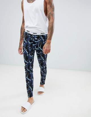 Asos DESIGN meggings in scribble print
