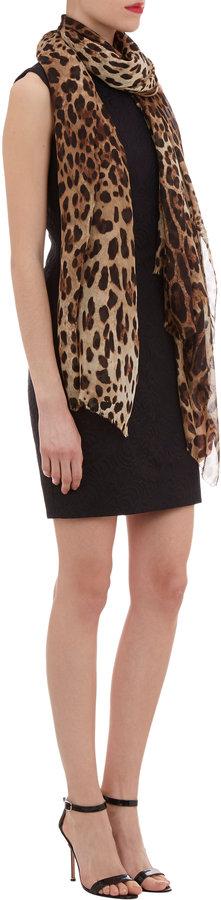 Dolce & Gabbana Leopard-print Silk Scarf