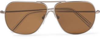 Kingsman + Cutler And Gross Statesman Aviator-Style Gunmetal-Tone Sunglasses