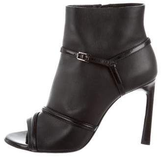 Lanvin Peep-Toe Ankle Booties