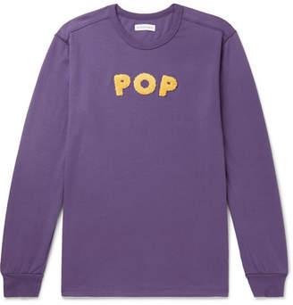 Pop Trading Company Uni Logo-Appliquéd Cotton-Jersey T-Shirt