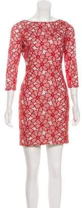 Diane von Furstenberg Lace-Accented Silk Dress