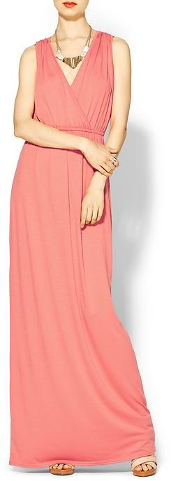 Juicy Couture Sabine Knit Wrap Maxi Dress