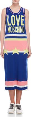 Love Moschino Graphic Sleeveless Sweater Dress