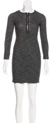 Alexander McQueen Wool-Blend Mini Dress