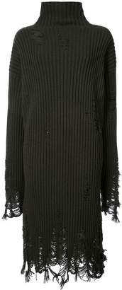 Yang Li frayed sweater dress