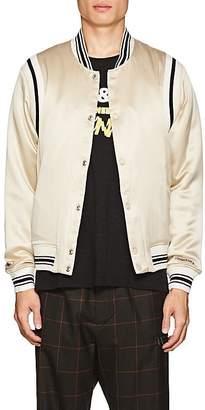 Ovadia & Sons Men's Silk Satin Varsity Jacket