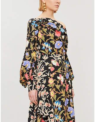 Peter Pilotto Floral-print asymmetric crepe blouse