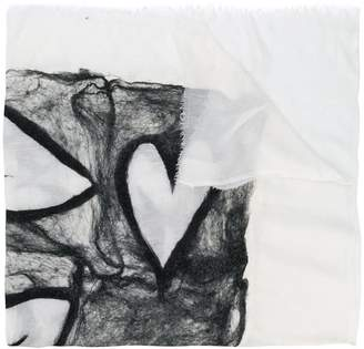 Faliero Sarti webbed heart scarf